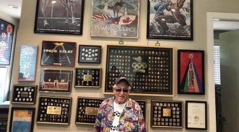 Sidney Marantz boasts a collection of over 12,000 Olympic pins. (Courtesy of Marantz)