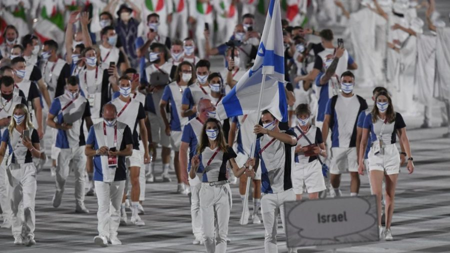 The+Israeli+delegation+to+the+Tokyo+Olympics.+Photo+by+Amit+Shissel%2FIsrael+Olympic+Committee