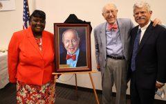 Judge Renee Hardin-Tammons, Judge Arthur Litz and Rob Litz  at the portrait unveiling. Photo Bill Motchan