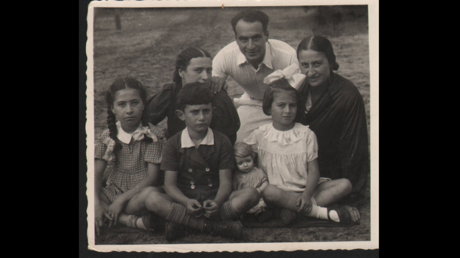 Rudolph Betty. Mother and Betty on right. Uncle, Aunt and 2 cousins who perished in Holocaust.