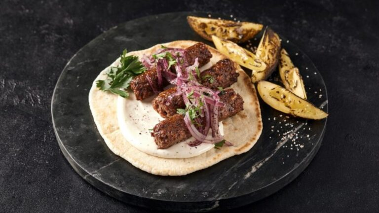 Redefine+Lamb+Kebab%2C+a+juicy+minced+alt-meat+product+for+the+most+common+street-food+dish+from+the+Middle+East+to+India.+Photo+courtesy+of+Redefine+Meat