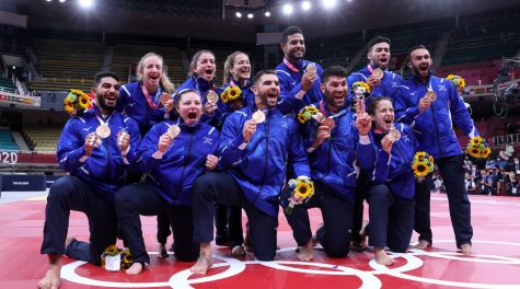 Israel's judo team wins bronze medal in Olympics mixed team competition