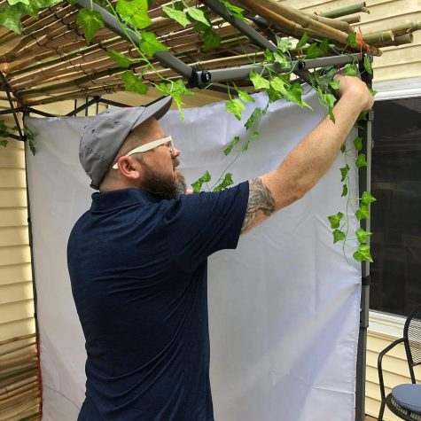 Scott Berzon, director of business operations at Congregation Shaare Emeth, constructed a sukkah at his home in Ballwin for the first time this year. The project started when his wife, Jamie, spotted a large pile of bamboo in a neighbors yard with a sign: Free. Jamie convinced us it was time to try and build our first Sukkah. The process was just as rewarding as the end result, and we laughed along the way that our structure may very well be a symbol of impermanence, Scott Berzon explained.