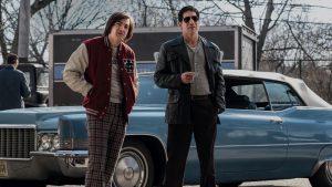 Michael Gandolfinii (left) and Jon Bernthal in 'The Many Saints of Newark,' a prequel series to 'The Sopranos.'