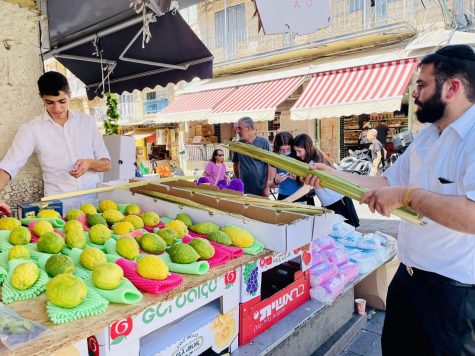 The Machane Yehuda outdoor market in Jerusalem was bustling as Israelis prepared for the upcoming Sukkot holiday on Sept. 20, 2021.