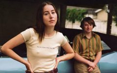 Alana Haim and Cooper Hoffman in a promotional poster image for Licorice Pizza. (MGM)