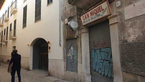 A leather shop that used to be a synagogue in Palma de Mallorca, Spain. Cnaan Liphshiz