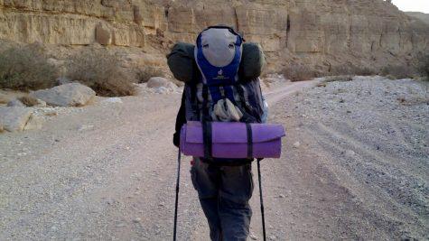 Hiking the Israel Trail. Photo courtesy of Tzippi Moss