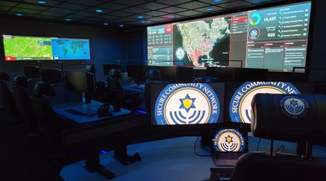 A view of the Secure Community Networks new command center in Chicago. (Courtesy of SCN)