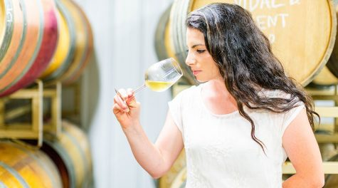 Rachel Lipman, at 28 perhaps the youngest winemaker in Maryland, is pushing through boundaries in a traditionally male-dominated industry. (Jonna Michelle Photography)