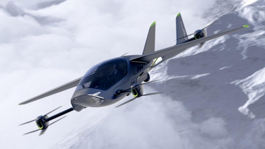 Cap-main: A simulation of AIR ONE in flight. Photo courtesy of AIR