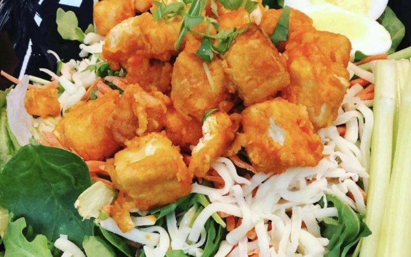 Chef A.J. Molls recipe for Buffalo Tofu Salad