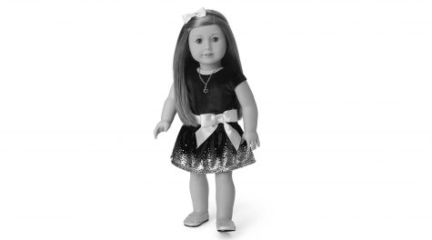 American Girl unveiled a doll outfit for Hanukkah complete with a sparkly blue dress, silver shoes, a head band, and a Star of David necklace. (American Girl)