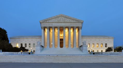 The Supreme Court building at dusk.(Wikimedia Commons)