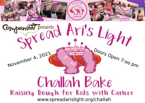 Kneading a need – proceeds from challah bake to support programs benefitting children with cancer