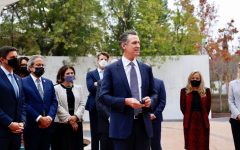 California Gov. Gavin Newsom announced the formation of a Council on Holocaust and Genocide Education at the Museum of Tolerance in Los Angeles. (Governor Newsoms office)