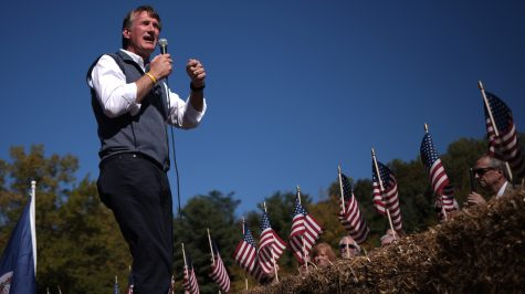Republican gubernatorial candidate Glenn Youngkin (R-VA) speaks during an Early Vote rally in Stafford, Virginia on October 19, 2021. (Win McNamee/Getty Images)