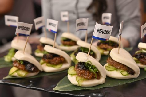 Impossible Pork Char Siu Buns were presented at a consumer technology conference in Las Vegas in January 2020. (David Becker/Getty Images)