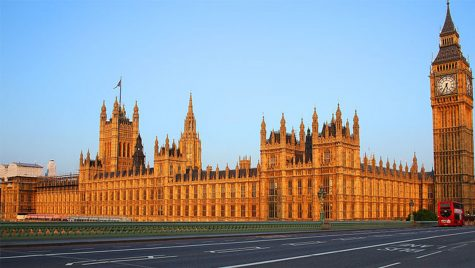 The Union Jack flies on the seat of the British parliament in London, June 20, 2014. (Rennett Stowe/Wikimedia Commons)