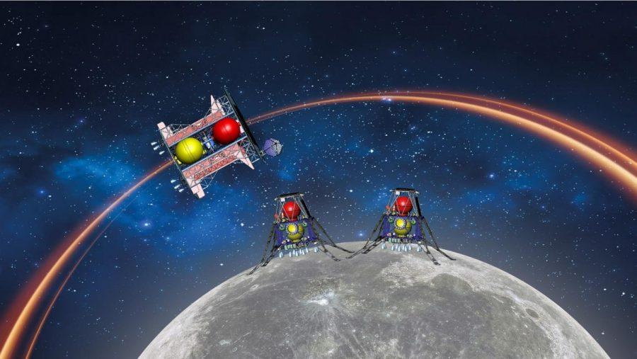 Illustration of the Beresheet 2 Moon mission. Image courtesy of SpaceIL