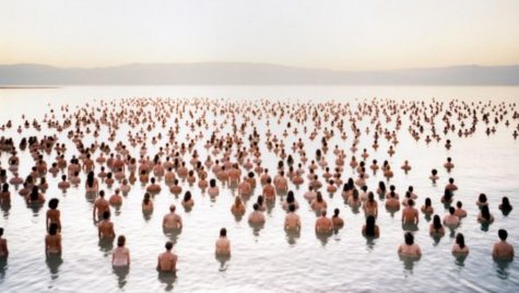 A photo from Spencer Tunick's 2011 installation of the Dead Sea. Photo courtesy of Spencer Tunick.