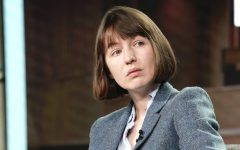 Sally Rooney speaks onstage during a conference in Pasadena, California on January 17, 2020. (Erik Voake/Getty Images for Hulu)